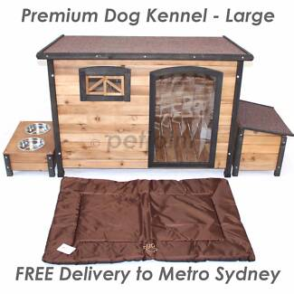 XL Wooden Dog Timber Kennel Extra Large Outdoor Pet Wood House s2