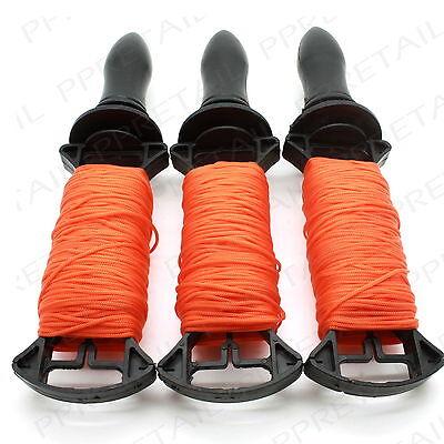 3 x 50M LONG REELS BRICK LINE Builders/Rope/String/Cord/Straight/Level HIGH VIZ