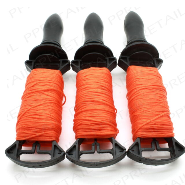 ★3 x 50M LONG REELS★BRICK LINE Builders/Rope/String/Cord/Straight/Level HIGH VIZ