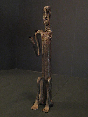 antique Nepalese shrine figure, West Nepal, shamanic ritual iron temple statue
