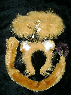 The Chronicles Of Narnia Aslan The Lion Ears Tail With Mane Faux Fur Fancy - Aslan Costume