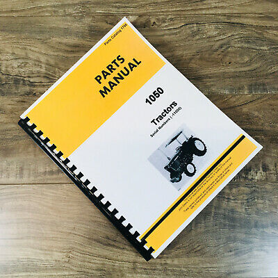 Parts Manual For John Deere 1050 Tractors Catalog Assembly Book Sn -11000