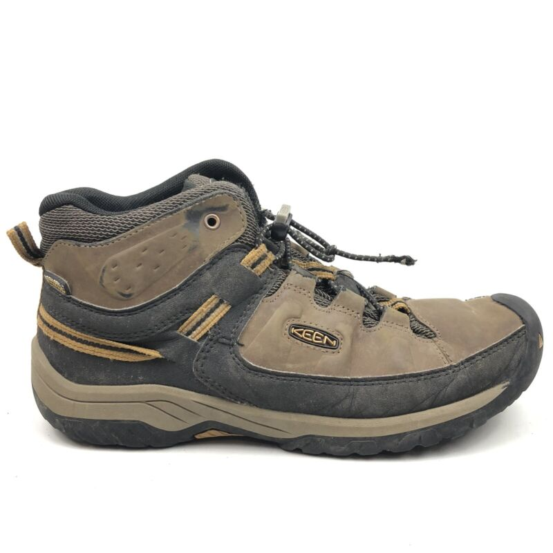 Keen Targhee Mid Waterproof Hiking Boots Youth Mens Size 6 NO INSOLES 1019834