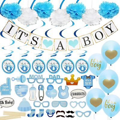 Baby Shower Decorations for Boy - Includes matching 'Its A Boy' Banner