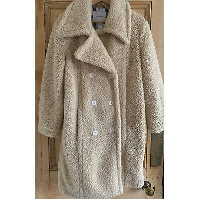 House of Sunny Teddy Coat 8 10 12 beige cream oat light brown