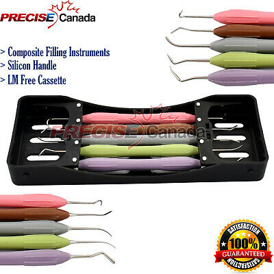 Dental Composite Filling Instruments Set Of 5 Silicon Handle Lm Arte Dn-2285