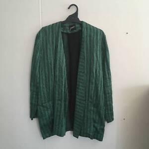 Jammali Green Linen Coat Preston Darebin Area Preview