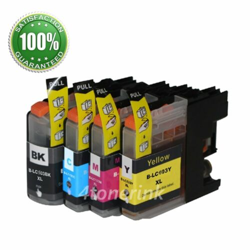 4pk New LC203XL LC-203 XL Ink Set  For Brother MFC-J460DW