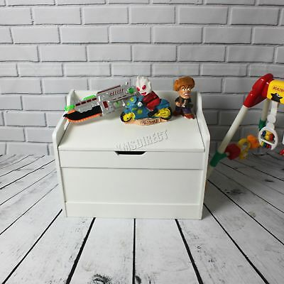 WestWood Kid Children Toy Storage Organiser Box Bench Furniture MDF TSB01 White