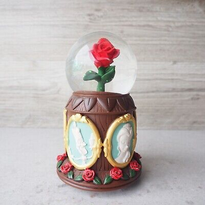 Disney Parks Beauty and the Beast Cameo Rose Musical Globe
