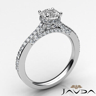 Circa Halo Pave Setting Round Diamond Engagement Ring GIA Certified F SI1 1.15Ct 6