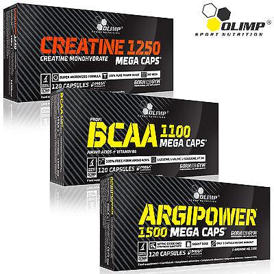 CREATINE MONOHYDRATE + BCAA + ARGIPOWER 90/180 Capsules Powerful Anabolic Growth