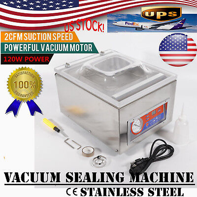 Commercial Automatic Vacuum Sealer Food Vacuum Sealing Packing Machine DZ-260C for sale  USA