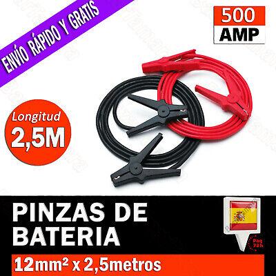 PINZAS CABLE PARA BATERIA DE COCHE MOTO CABLES PUENTE ARRANQUE EMERGENCIA 500AMP