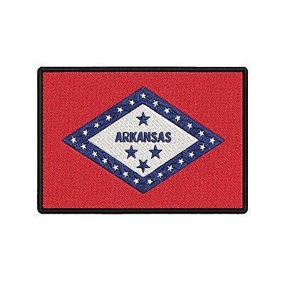 ARKANSAS STATE FLAG Iron On Patch Flag of Arkansas