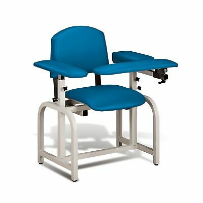 Lab X Padded Phlebotomy Blood Draw Chair 20 Seat Height Royal Blue