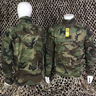 san francisco e6ff2 5dea0 NEW Valken V-Tac TANGO Combat Shirt Paintball Jersey - Woodland Camo - Small