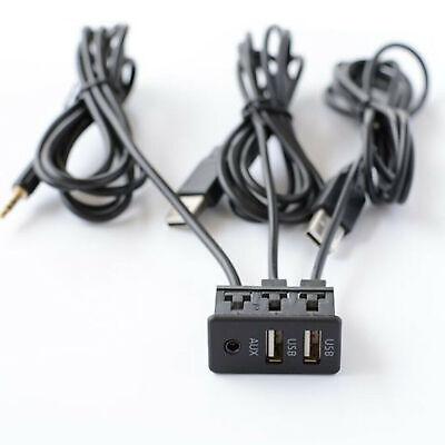 Panel de puerto AUX USB empotrado para tablero de coche Adaptador de...