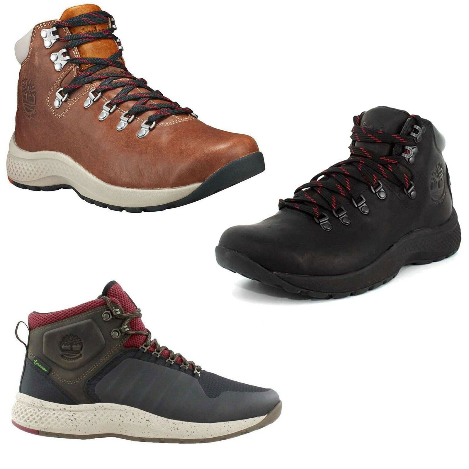 Timberland Men's Flyroam Trail Waterproof Leather Mid Hiking Boots Hiker Shoes