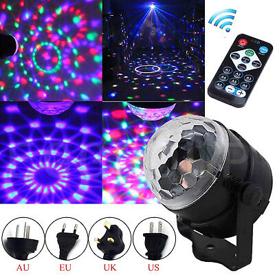 Mini DJ Club Disco KTV Party Bar RGB Color LED Ball Laser Projector Stage Light
