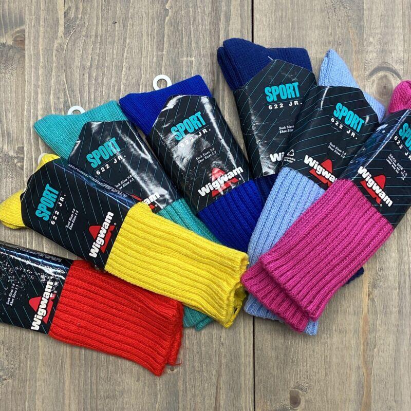 Wigwam Sport Slouch Socks USA Style 622 JR Sock Sizes 7-9 Shoe 1 -5 LOT of 7!