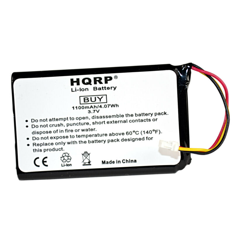 HQRP 1100mAh Battery for Garmin Nuvi 30 40 40LM 50 50LM 361-00056-00 3610005600
