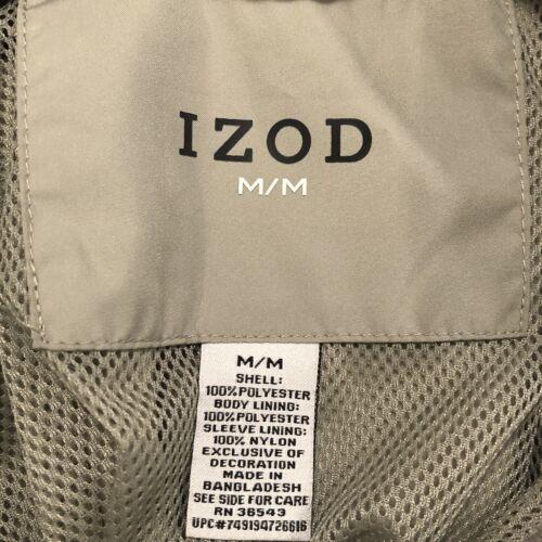 IZOD Golf Windbreaker Adult Size M Pullover Rain Jacket Outdoor - $9.99