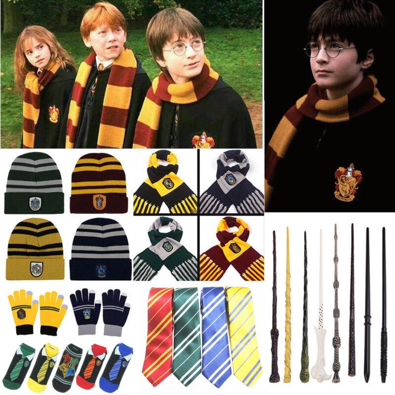 Harry Potter Kostüm Umhang Gryffindor Hufflepuff Slytherin Ravenclaw Schal Mütze