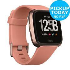 Fitbit Versa Activity Tracker Wrist Monitor Smart Watch - Peach / Rose Gold