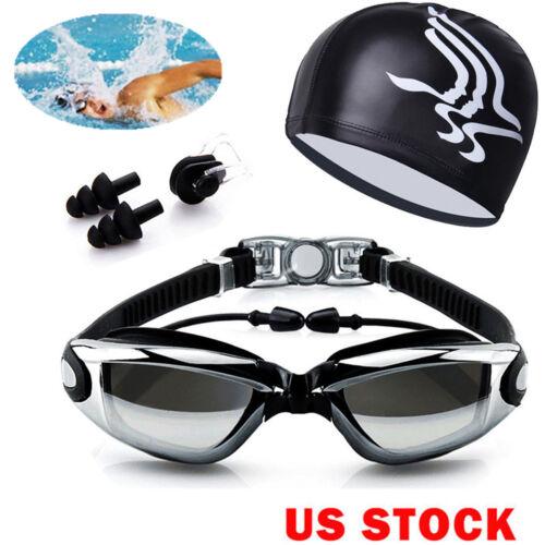 Men Women Swimming Glasses Goggles UV Protection Non-Fogging