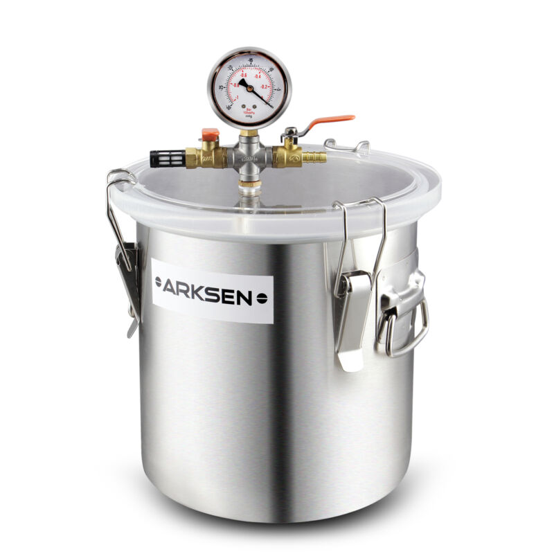 5 Gal Vacuum Degassing Chamber Resin Silicone Epoxy Metal Extract Solvent 280mm