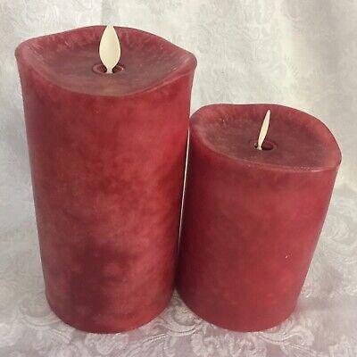 "Luminara Flameless Candle 4""&6"" Pillars / Remote /set of 2, 3 colors to choose."