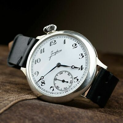 ANTIQUE SOLID SILVER JUNGHANS MARRIAGE WATCH