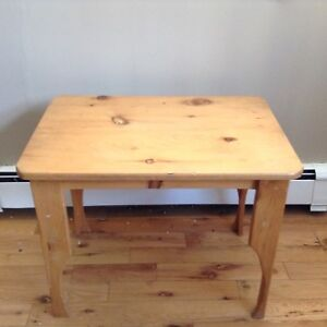 "Pine Wooden Table 28"" LX 19.5"" W .... $15"