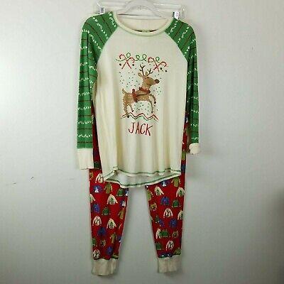 Munki Munki Christmas Pajamas Boys Size Small Monogrammed Jack Family](Monogrammed Christmas Pajamas)