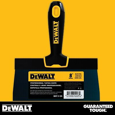 Dewalt Taping Knife 8 Premium Blue Steel Drywall Finishing Tool Soft-grip