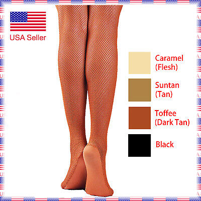(Special Offer Women's Professional with Foot Panel Dance Fishnet Tight Stocking)