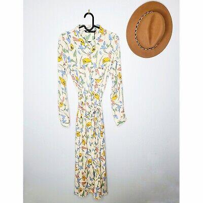 NWT Zara Size S Floral Print Midi Shirt Dress Ref 8219/449 aw19