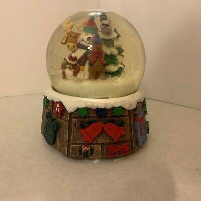 Mr. Christmas - Animated Musical Snow Globe - North Lodge - Snowman & Friends