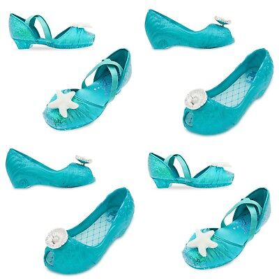 Disney Store Ariel Costume Shoes Dress Up Little Mermaid Princess Starfish Shell](Disney Dress Up Princess)