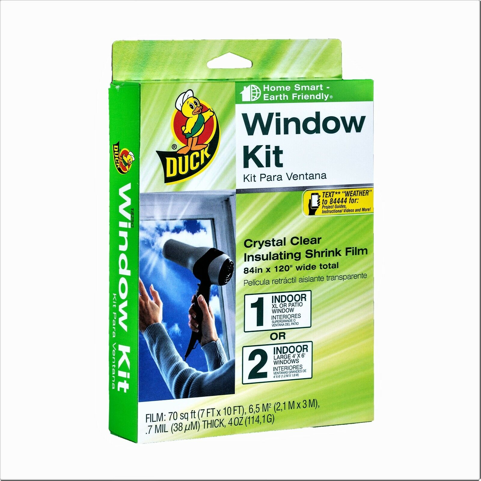 "Duck Window Kit 84/""x120/"" Clear Insulating Shrink film"