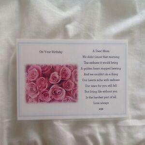Memorial Grave Card Mum Birthday