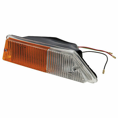 Triumph TR6 Lamp assembly Side indicator Front LH Amber white NEW 215246 Moss