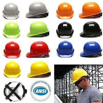 Ansi Class C E G Hard Hat Cap Ratchet Suspension Construction Safety Helmet