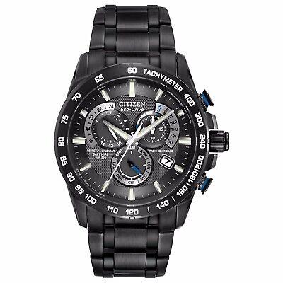 Citizen Eco-Drive Men's AT4007-54E Chronograph Perpetual Calendar 42mm Black