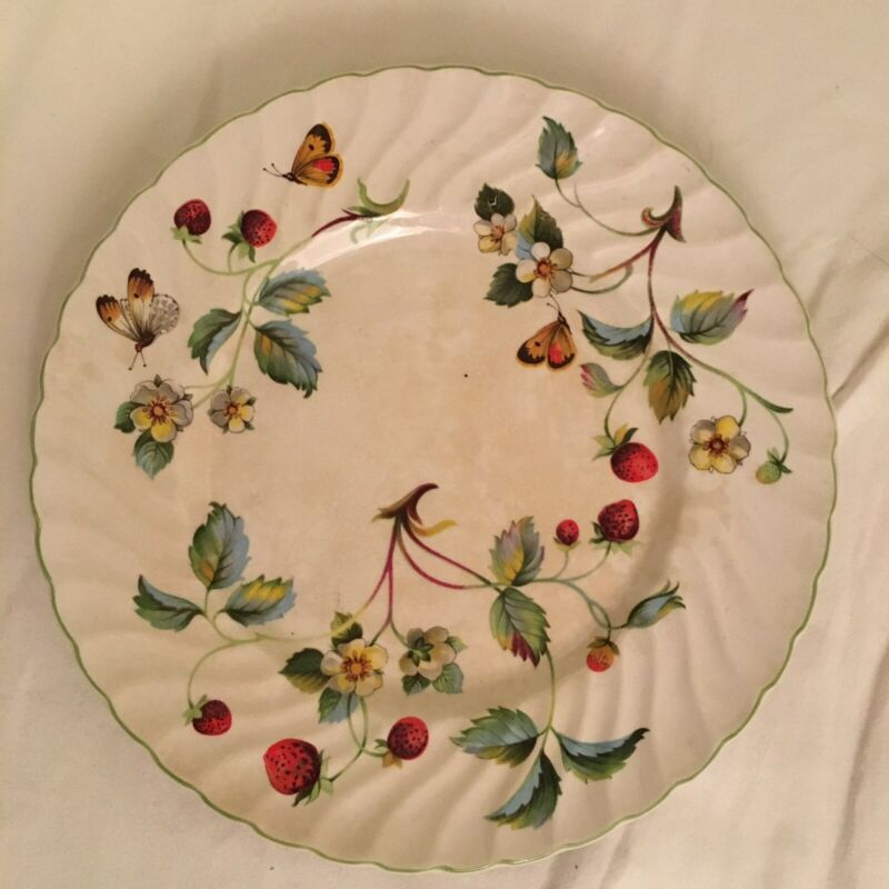 """James Kent China Old Foley Strawberry Dessert Salad Plate 8"""" Made in England FS!"""