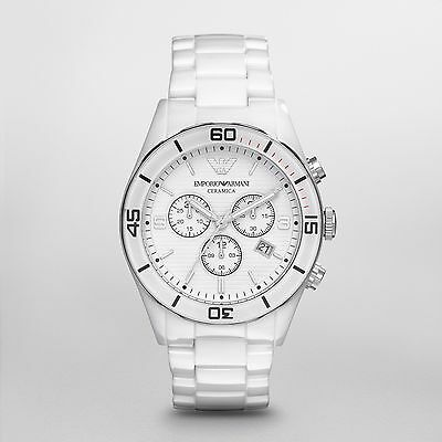 NEW EMPORIO ARMANI AR1424 WHITE CERAMIC WATCH WATCH