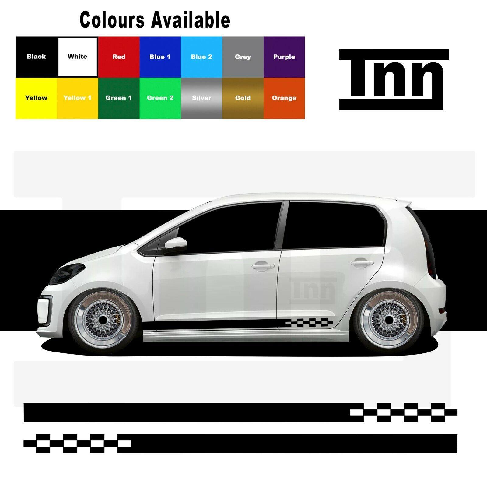 Side Stickers Stripes Decals Vinyl For VW Up UP Skoda Citigo Seat Mii GTI