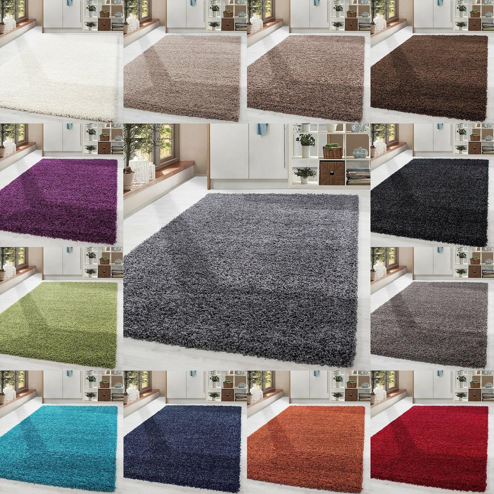 Shaggy Hochflor Teppich Carpet - Farben und Größen Wohnzimmer Neu Top Angebot!