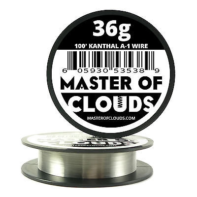 100 Ft - 36 Gauge Awg A1 Kanthal Round Wire 0.127 Mm Resistance A-1 36g Ga 100